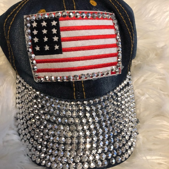 America bedazzled hat 273ea76b8be